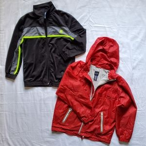 Russell and Gap Kids Boys Zip Up Jackets